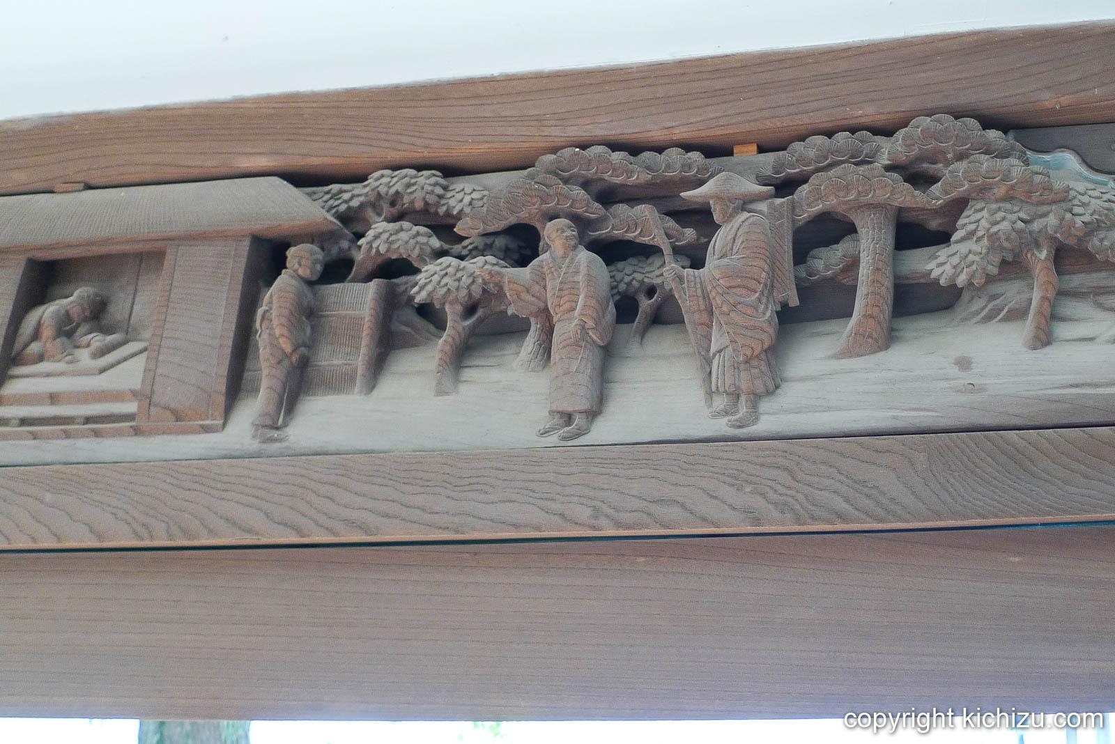 柴又帝釈天 廊下の木彫り