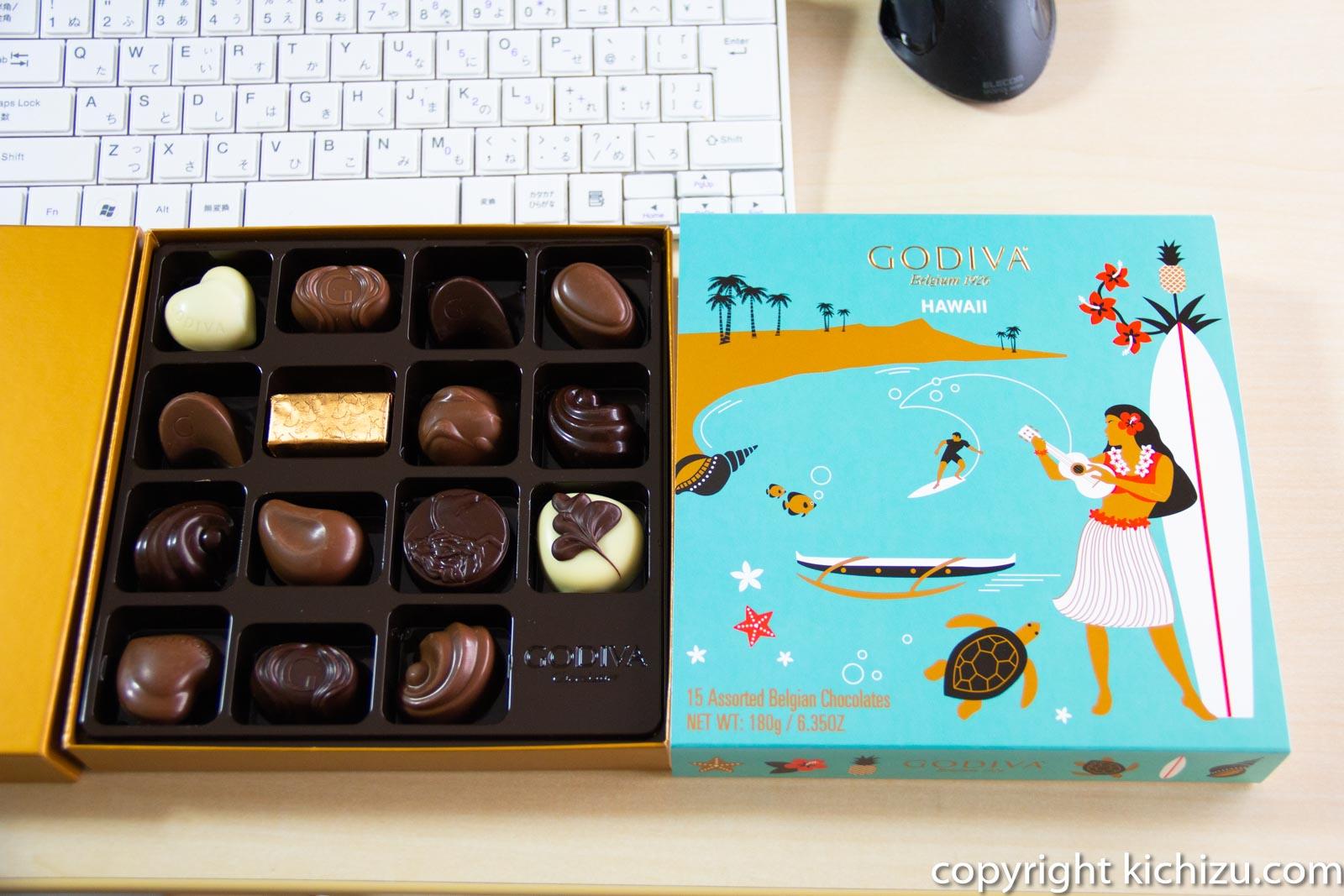 GODIVA HAWAII 15種類のベルギーチョコレート