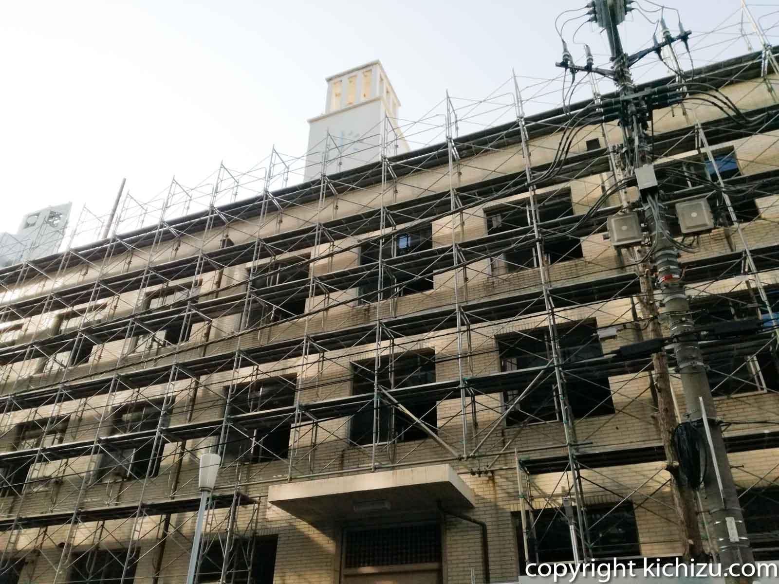 建て壊し中の川崎市役所