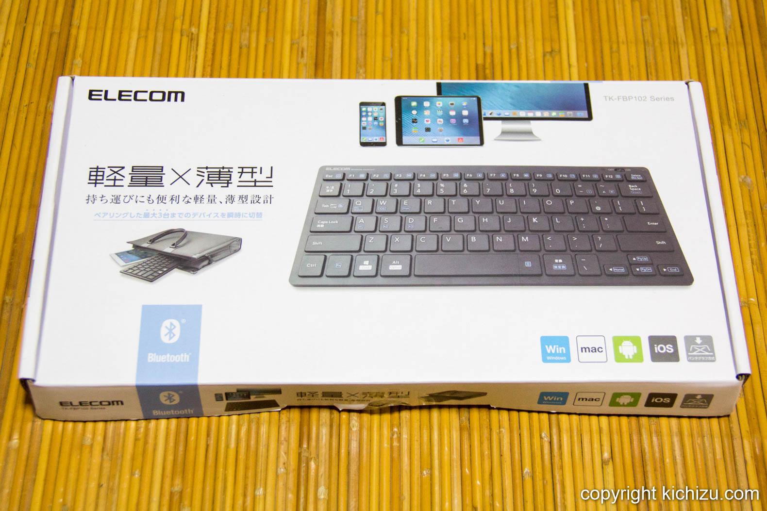 エレコム Bluetoothミニキーボード TK-FBP102BU