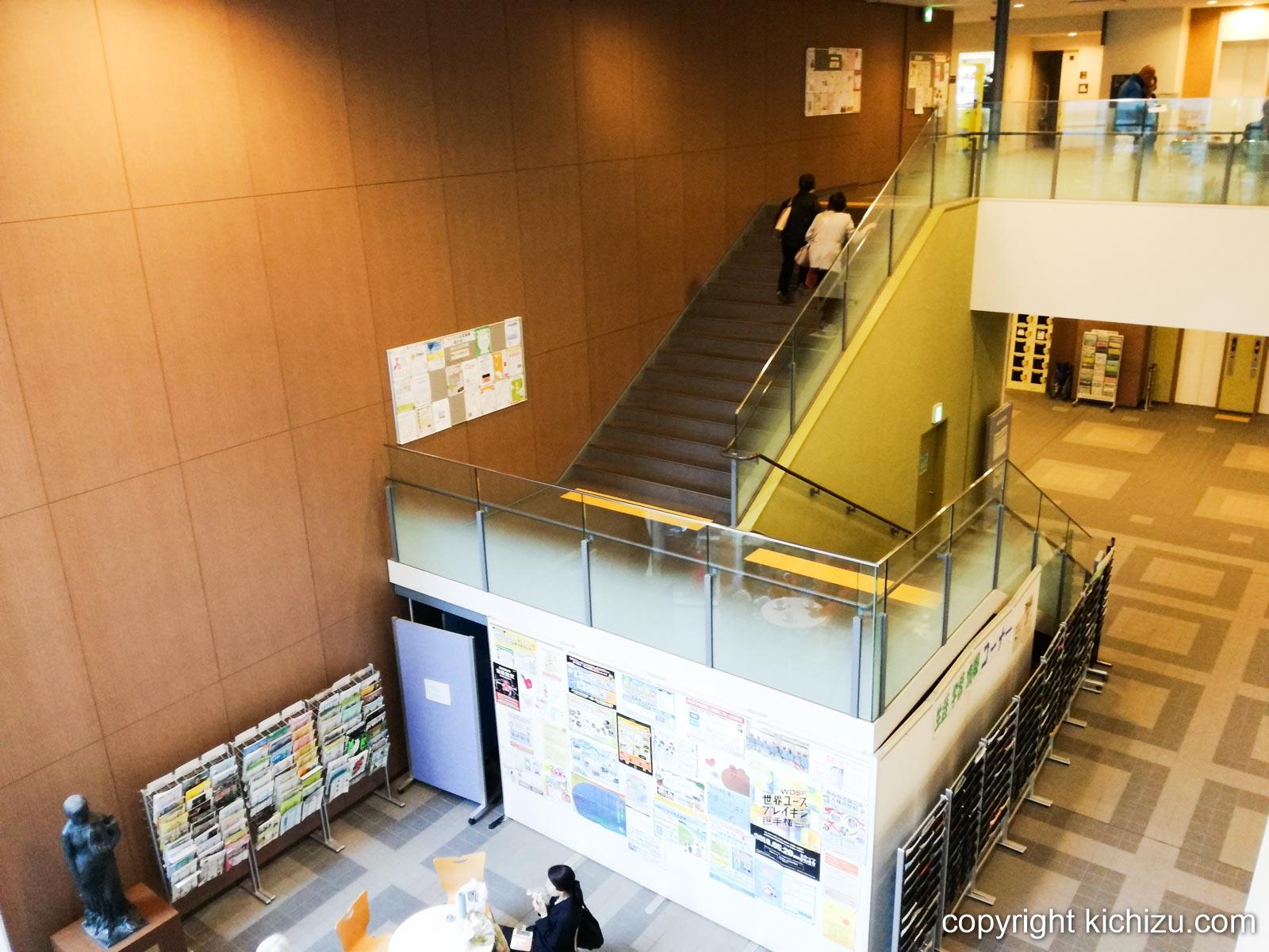 中原市民館の階段