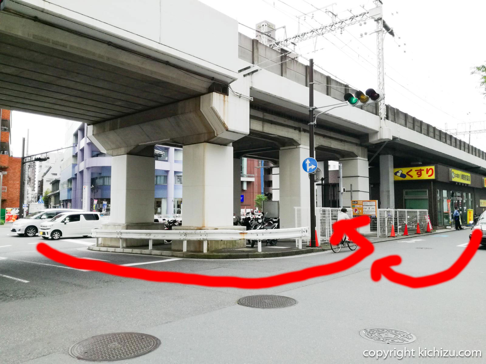 川崎太田病院前バイク駐車場