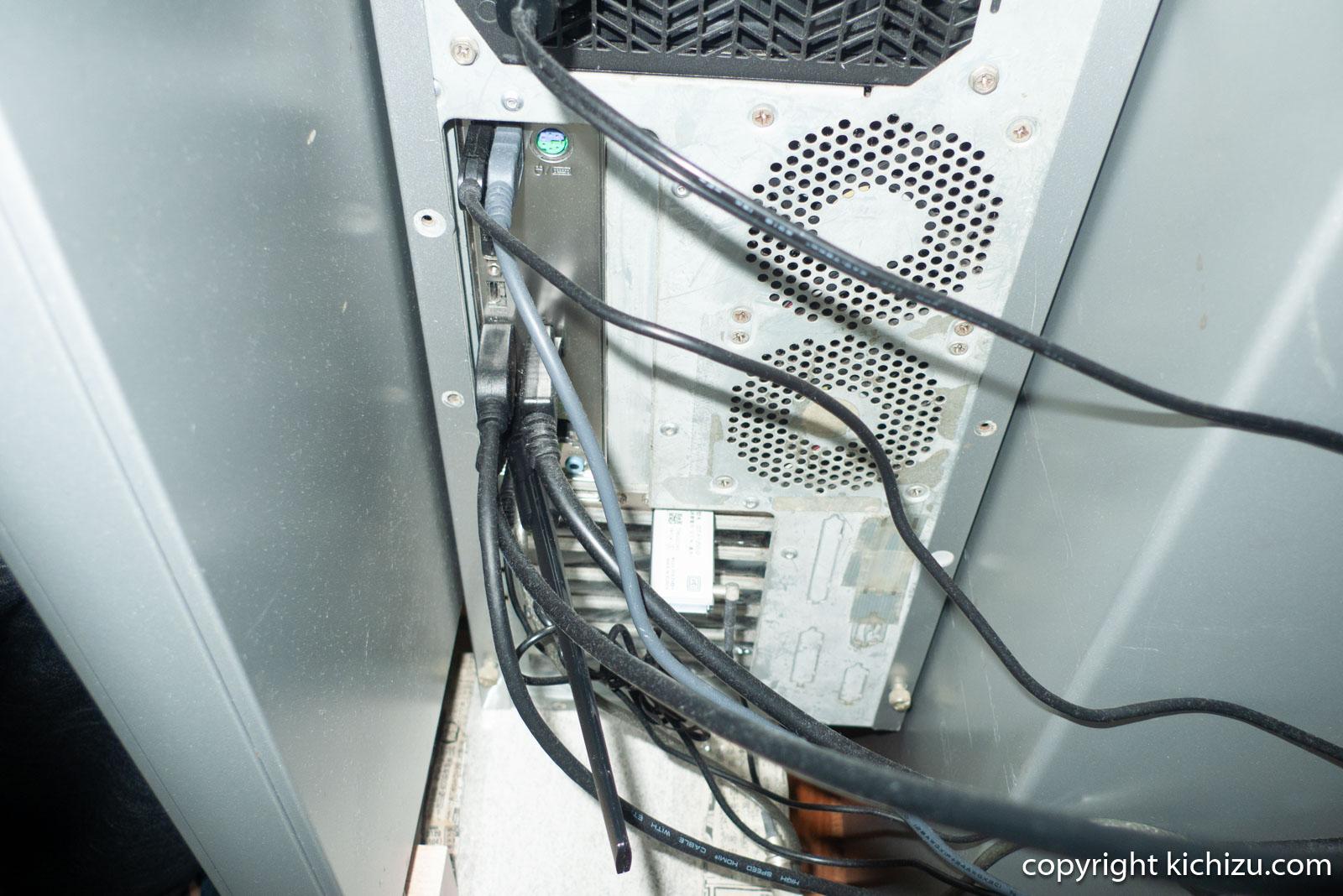 PC本体に無線ランアンテナ