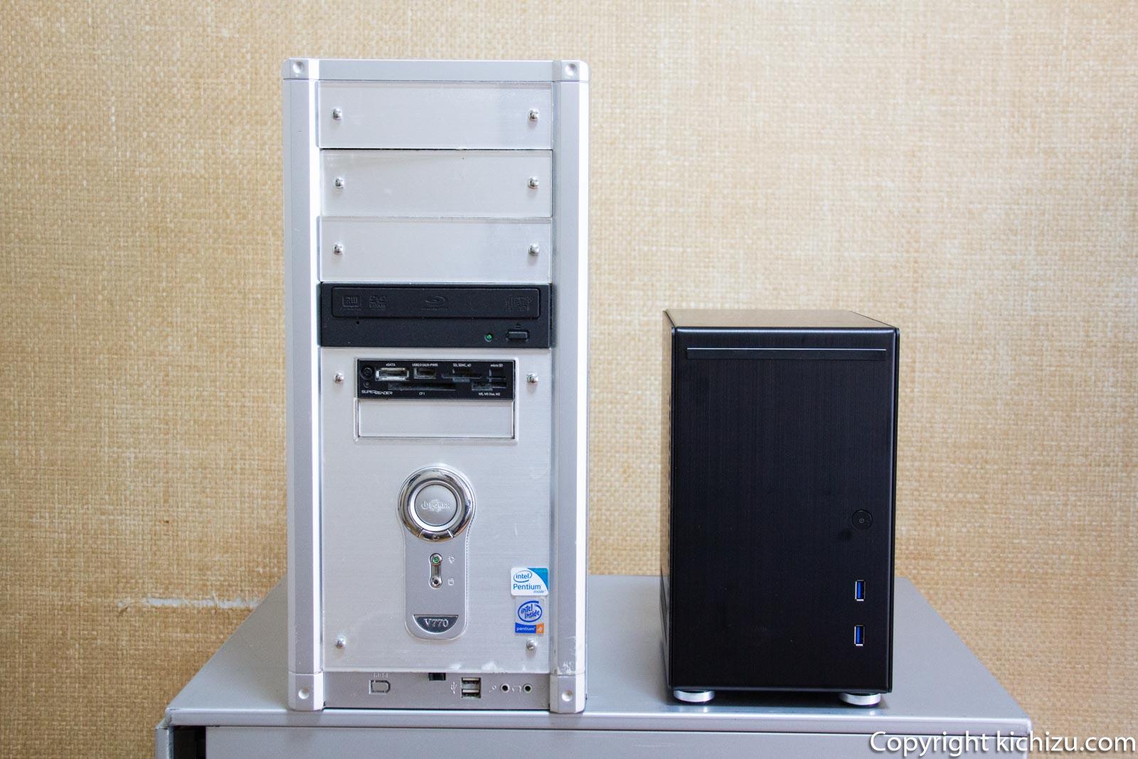 ATX と Mini ITX のケース比較
