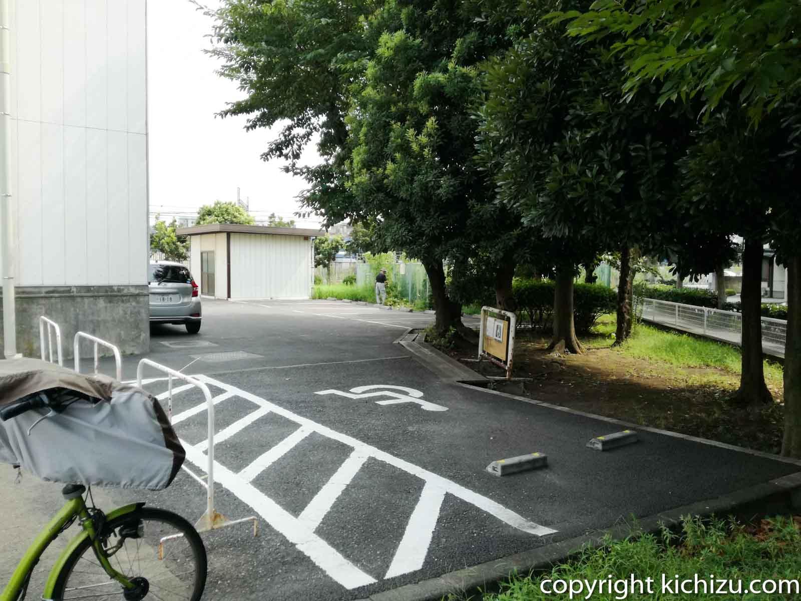 ヨネッティー堤根の駐車場
