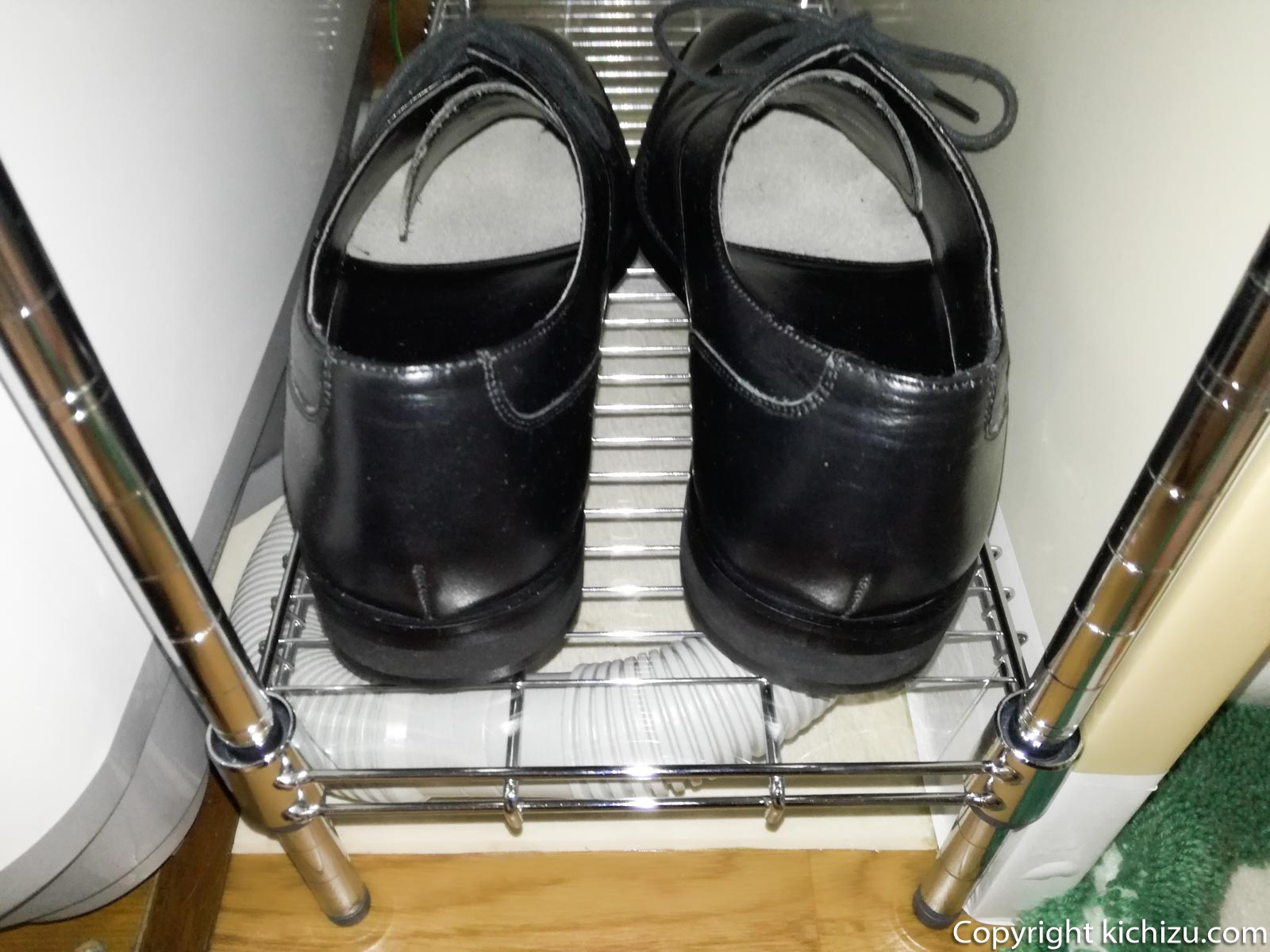 靴を乗せた状態