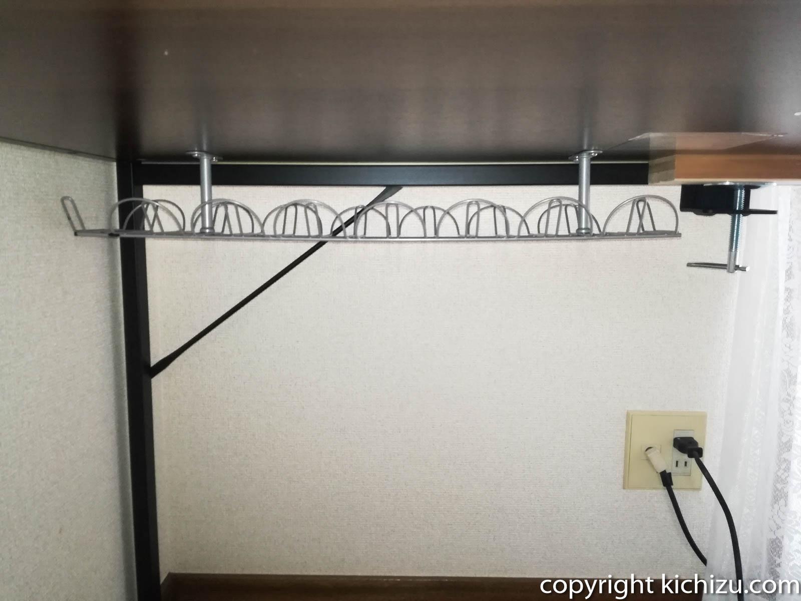 IKEAのケーブルオーガナイザー取り付け完了