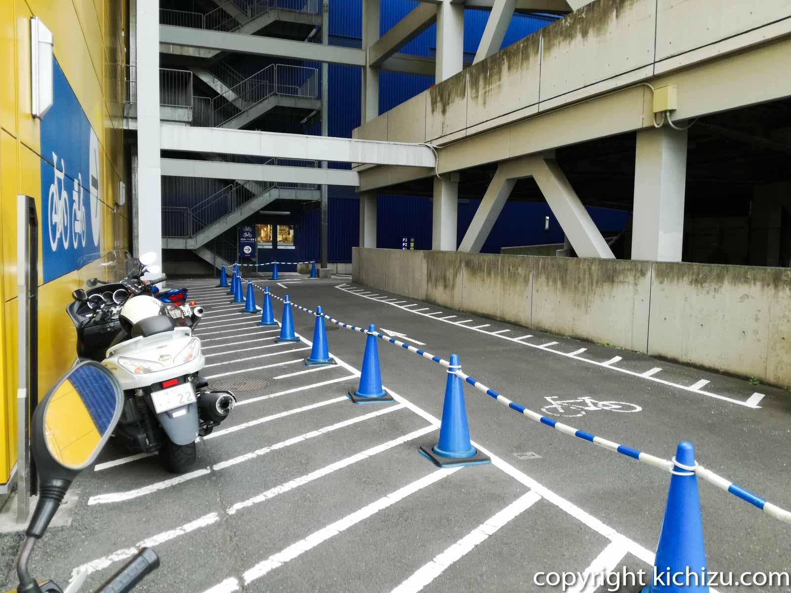 IKEA(イケア) 港北店のバイク駐車場