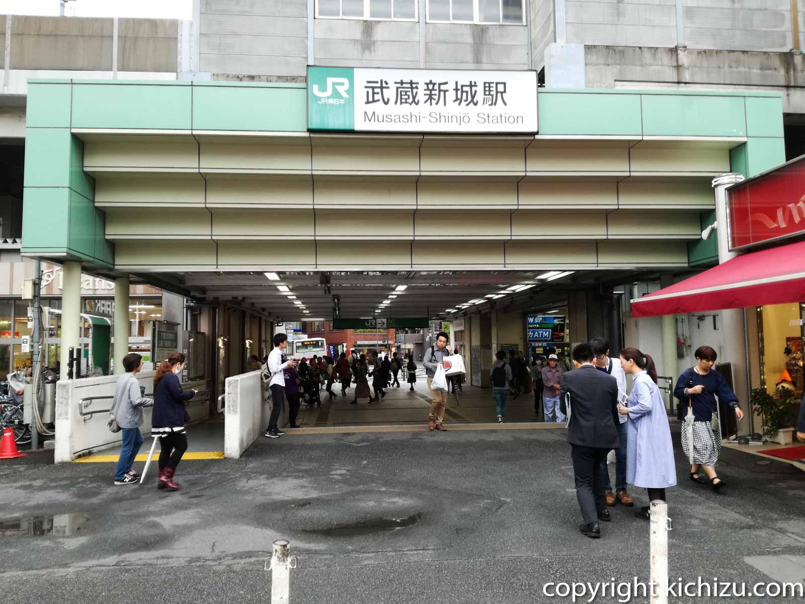 武蔵新城駅周辺のバイク駐車場