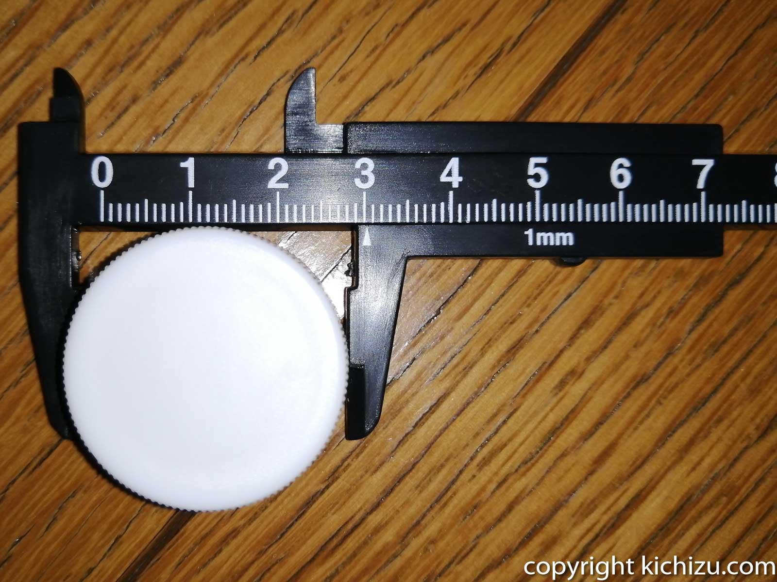 ノギスで外径を測る