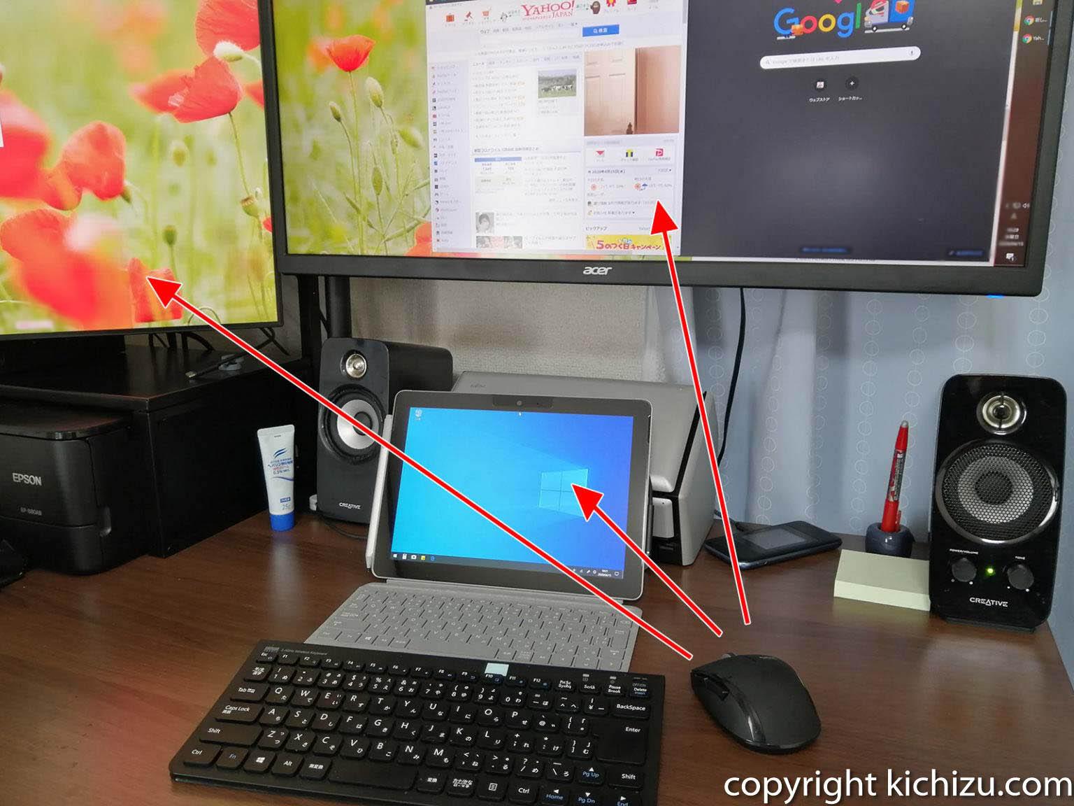一つのマウスとキーボードで複数のパソコンを操作する
