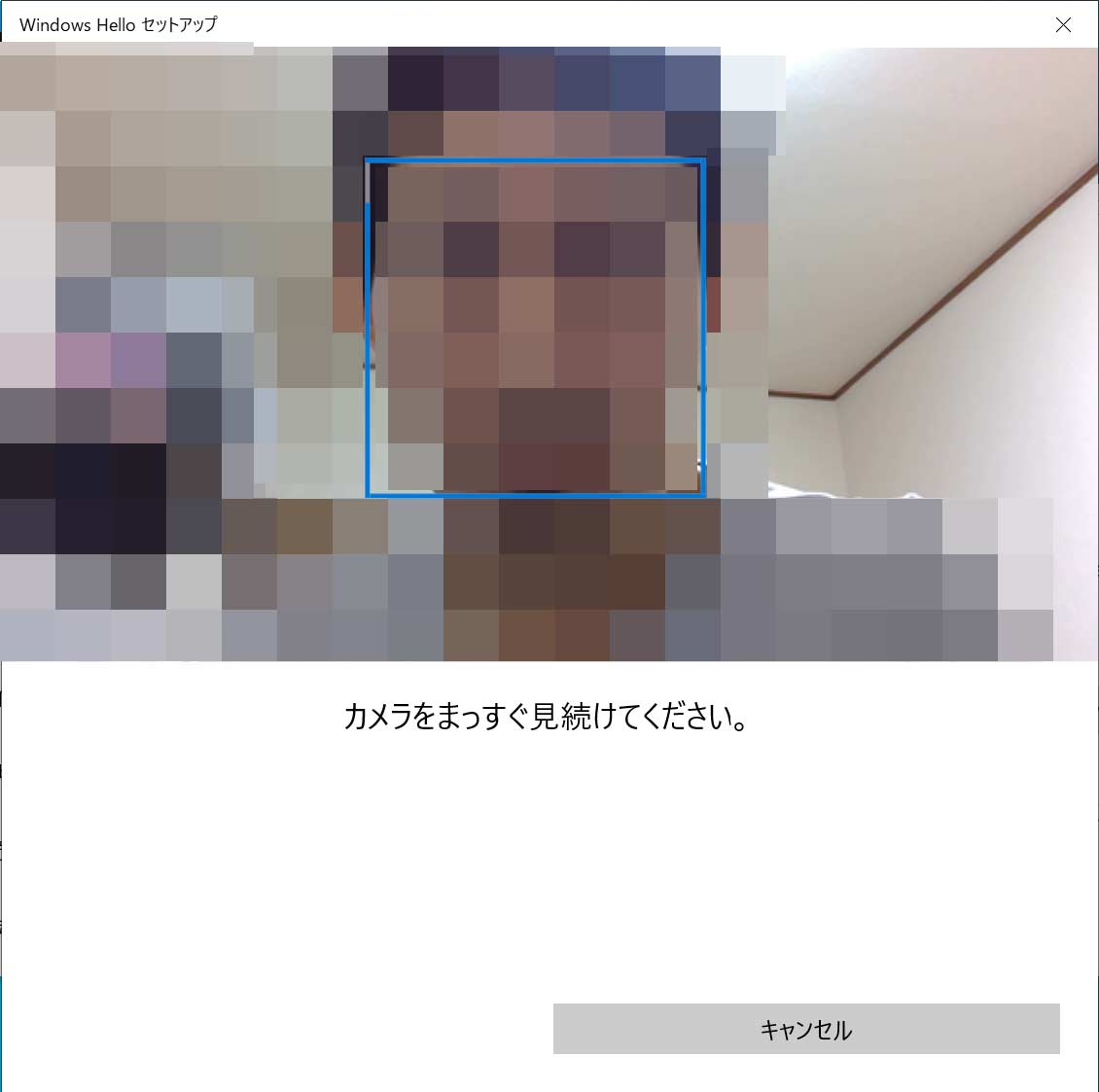 Windows Hello セットアップ画面