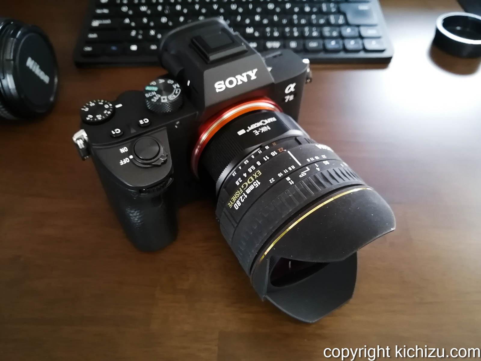 sony α7IIIとSIGMA 15mm 1:2.8D EXDG FISEYE