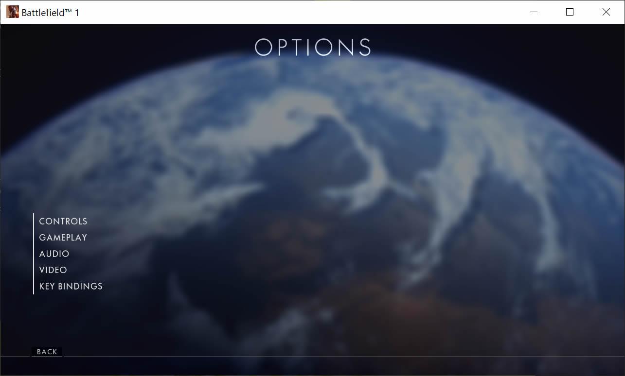 オプション画面