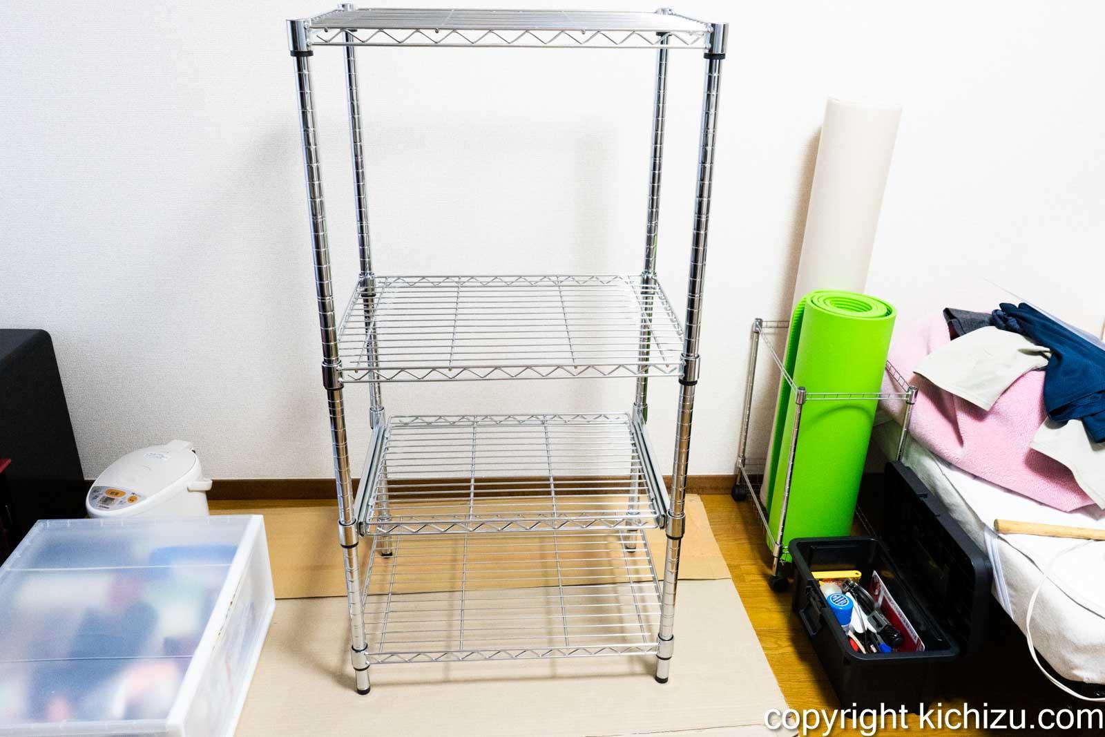 完成したキッチン棚メタルラック